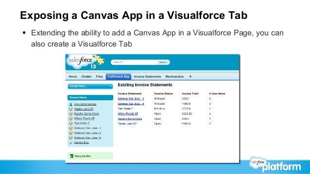 Salesforce Developer Garage Seattle Forcecom Canvas - Salesforce invoicing app