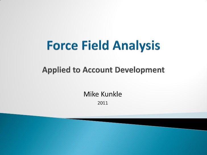    What is…     Account Development                       Force Field AnalysisThe systematic process, methodology      A ...
