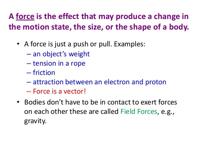 Quot Force And Motion Quot Is A Power Point For The 9th Grade