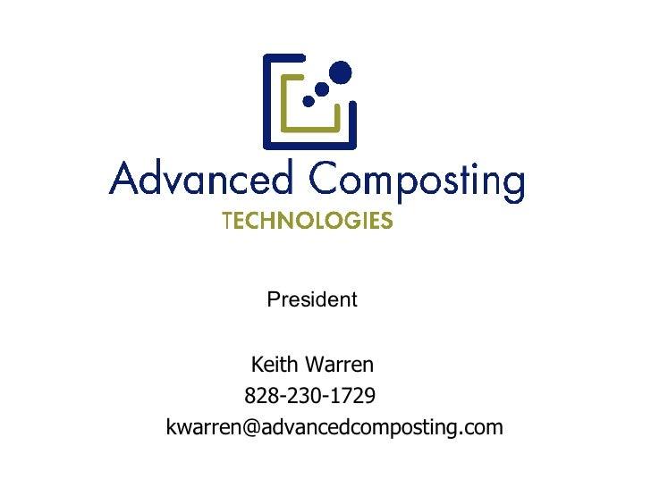 Keith Warren   828-230-1729   [email_address] President