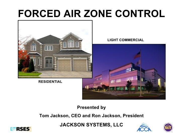 jackson hvac zone wiring diagram forced air zone control presentation  forced air zone control presentation