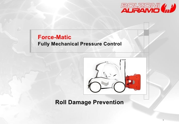 Force-Matic   Fully Mechanical Pressure Control  Roll Damage Prevention