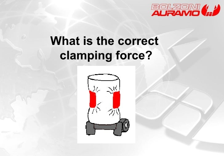 What is the correct  clamping force?