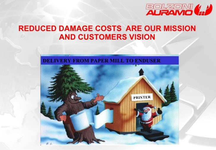 REDUCED DAMAGE COSTS  ARE OUR MISSION AND CUSTOMERS VISION DELIVERY FROM PAPER MILL TO ENDUSER PRINTER
