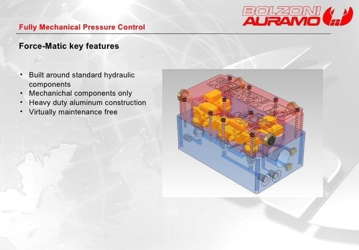 <ul><li>Built around standard hydraulic components </li></ul><ul><li>Mechanichal components only </li></ul><ul><li>Heavy d...