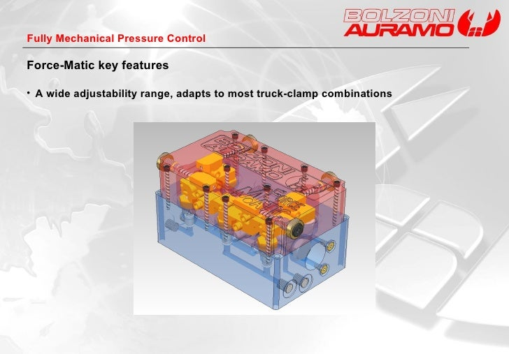 <ul><li>A wide adjustability range, a dapts to most truck-clamp combinations </li></ul>Force-Matic key features