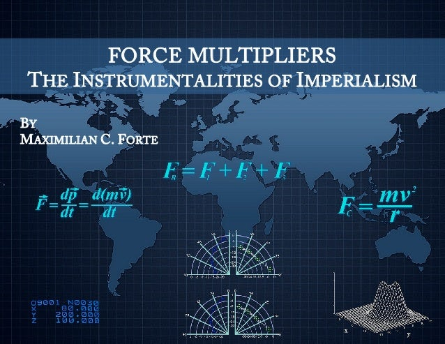 FORCE MULTIPLIERS THE INSTRUMENTALITIES OF IMPERIALISM BY MAXIMILIAN C. FORTE