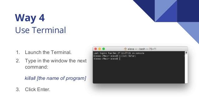how to force close program mac