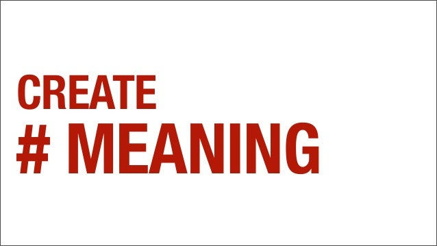 CREATE # MEANING
