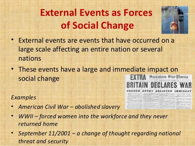 Forces Of Social Changes