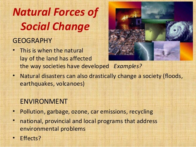 examples of social change today