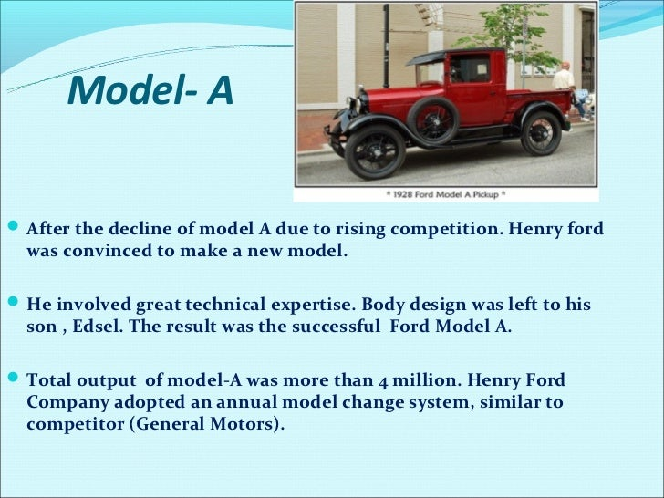 Car Named After Henry Ford Son