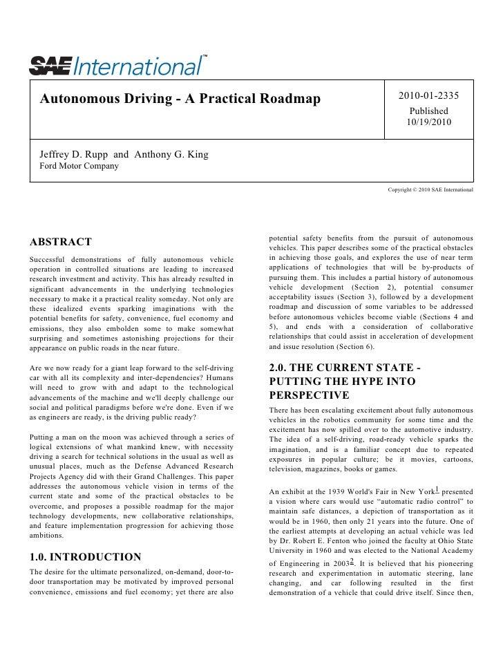 Autonomous Driving - A Practical Roadmap                                                                2010-01-2335      ...