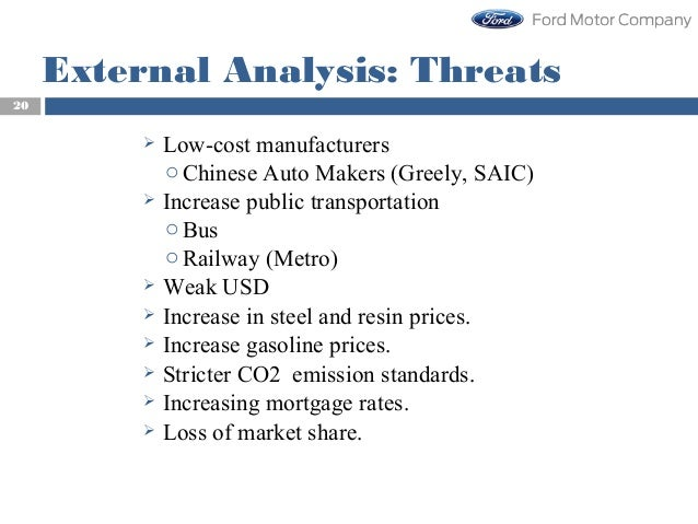 Strategic management competitiveness of ford motor company for Ford motor credit interest rates