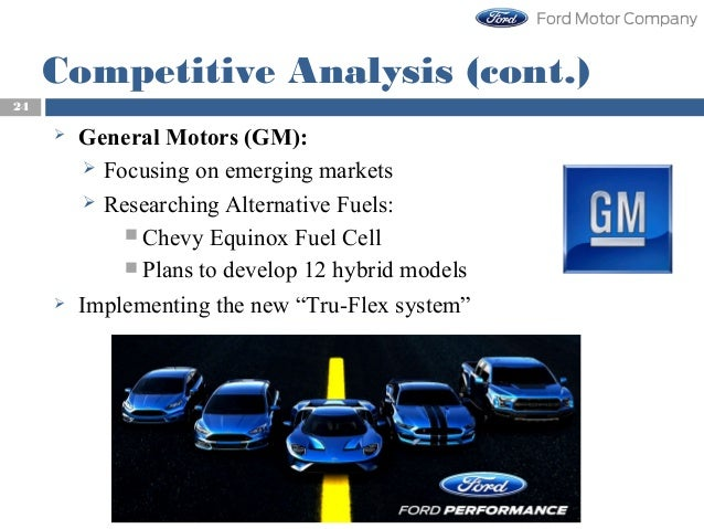Strategic management competitiveness of ford motor company for General motors pricing strategy