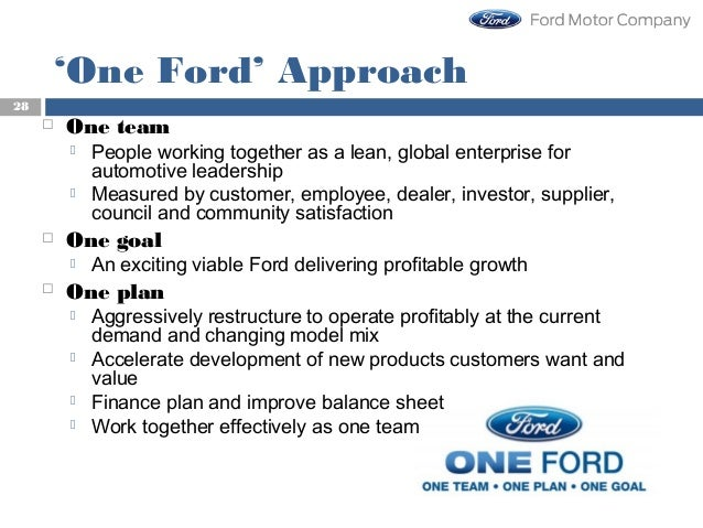 Strategic management competitiveness of ford motor company for Ford motor company marketing strategy
