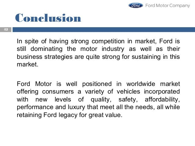 Strategic management competitiveness of ford motor company Ford motor company financials
