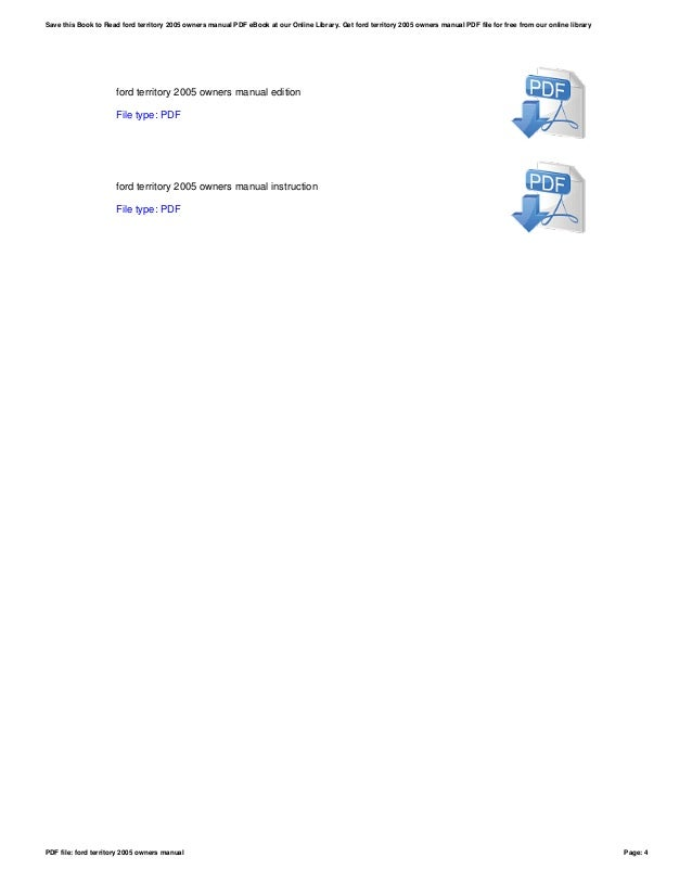 2005 ford ba falcon service repair manual.