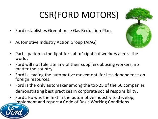 Ford motor company social responsibility for Ford motor company main office
