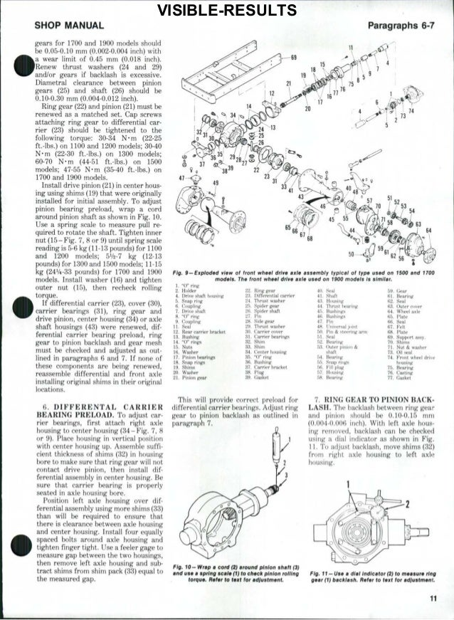 Ford 1700 tractor service repair manual