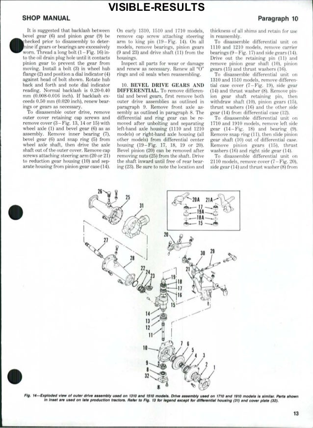 Ford 1900 tractor service repair manual