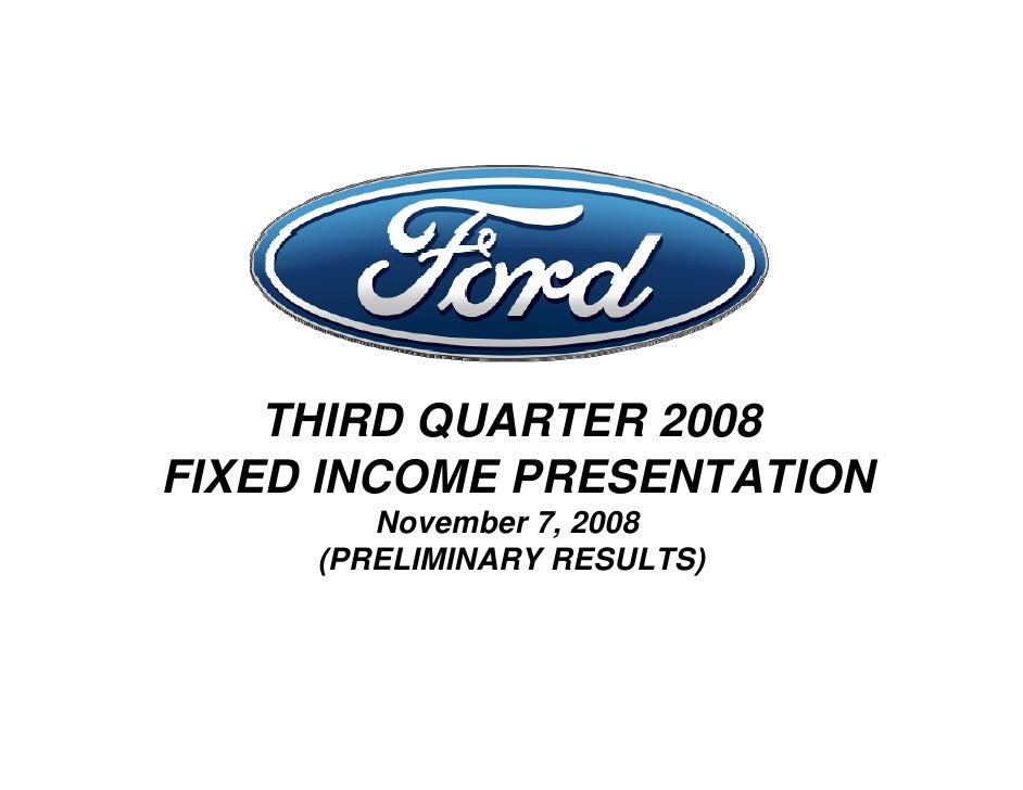 Ford Q Fixed Income Conference Call - Volkswagen credit login