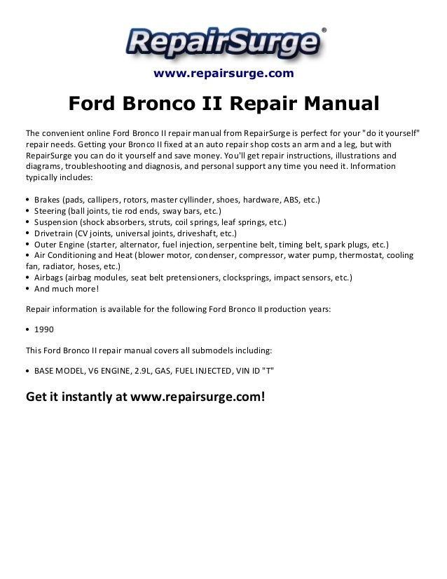 Ford bronco manual | ebay.