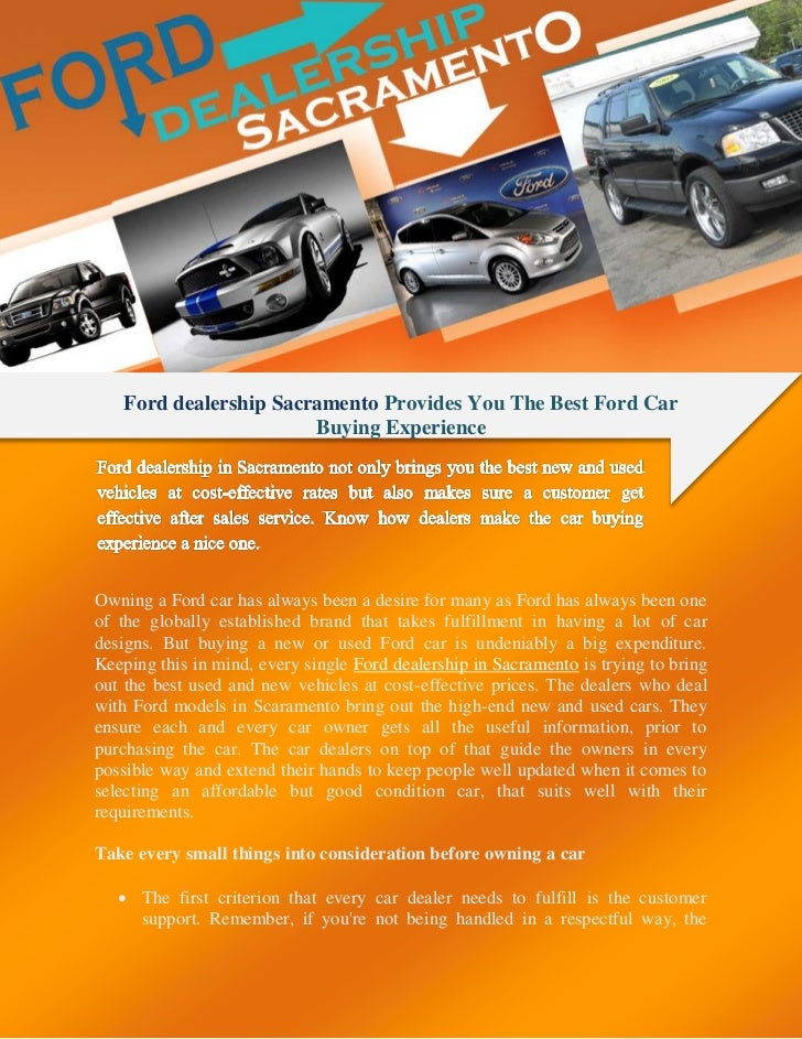 Sacramento Ford Dealers >> Ford Dealership Sacramento Provides You The Best Ford Car Buying Expe