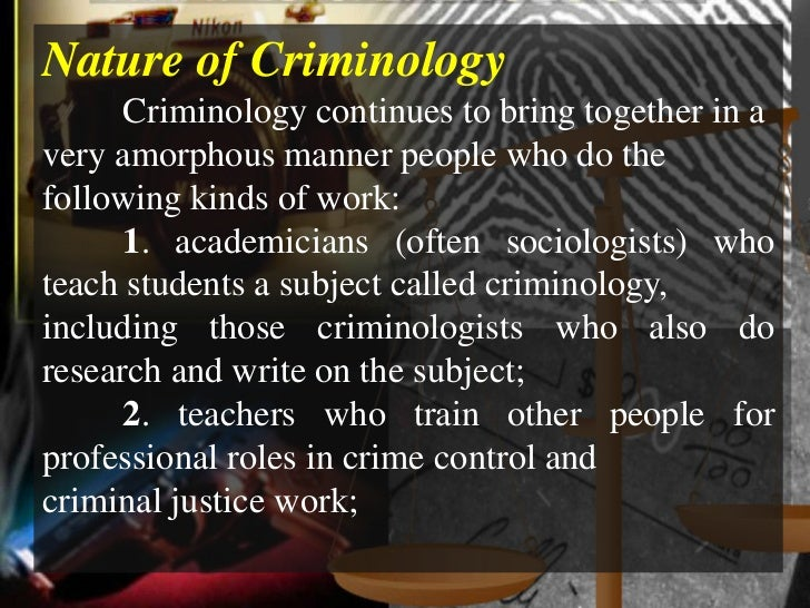 introduction to criminology University of maryland university college offers a ccjs course, introduction to criminology (ccjs 105), toward online degrees and certificates.