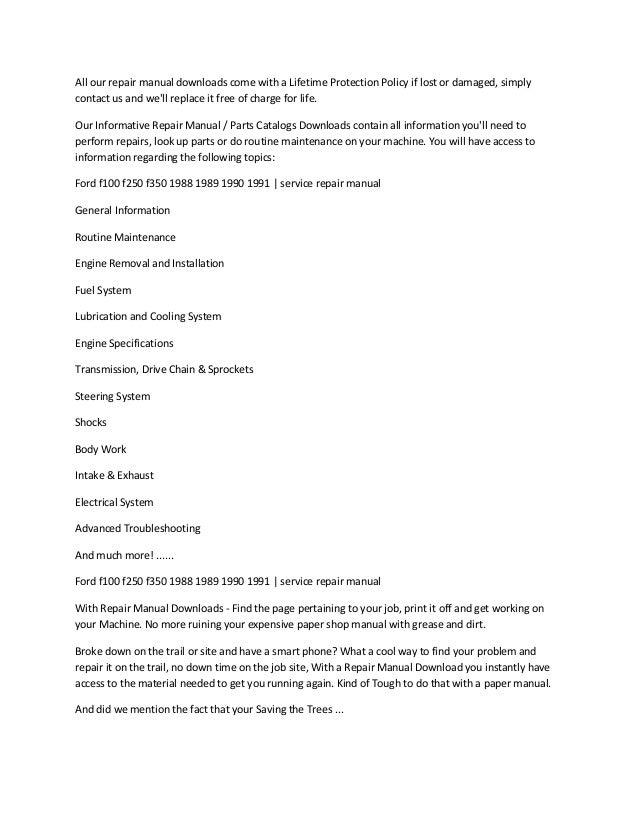 1990 f 250 user guide daily instruction manual guides u2022 rh testingwordpress co 1995 ford f250 service manual pdf 1995 ford f250 service manual