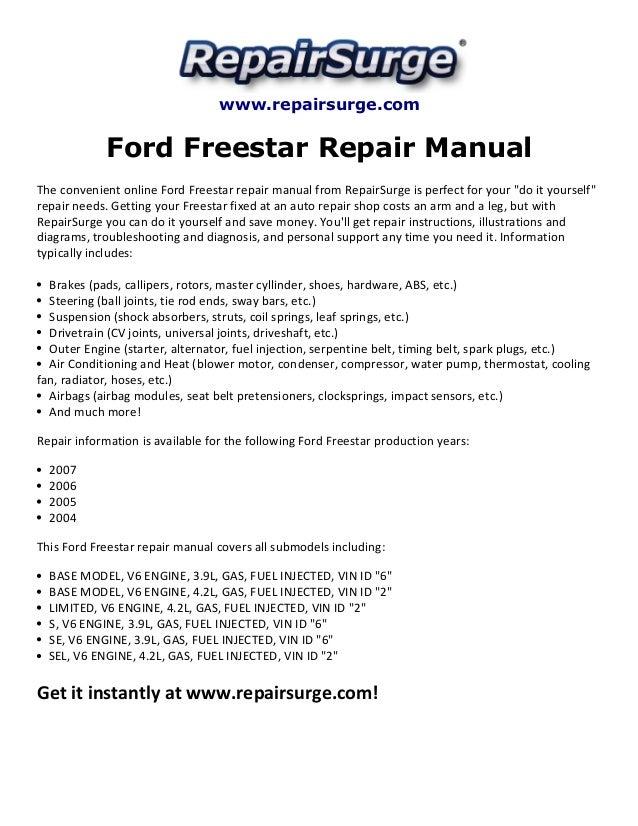 ford freestar repair manual 20042007 1 638?cb=1415689342 ford freestar repair manual 2004 2007  at gsmx.co
