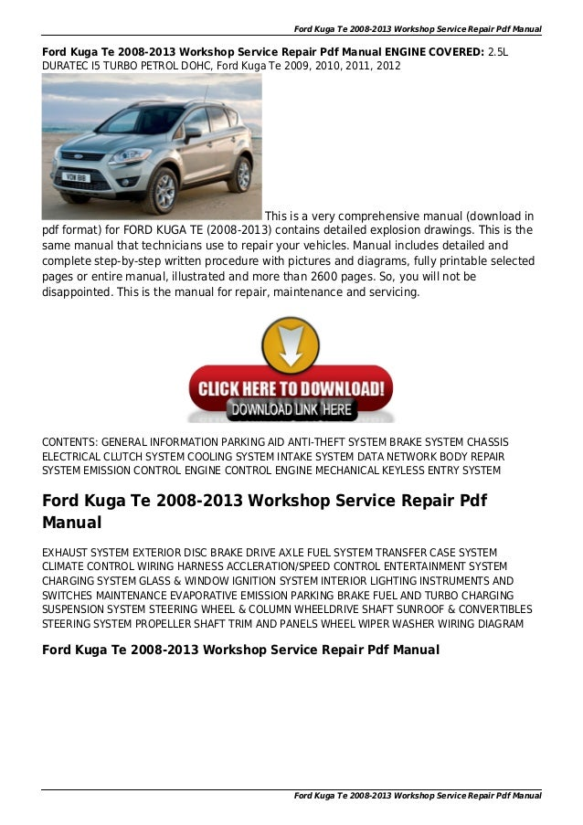 ford kuga te 2008 2013 workshop service repair pdf manual 1 638?cb=1444745353 ford kuga te 2008 2013 workshop service repair pdf manual ford kuga wiring diagram at suagrazia.org