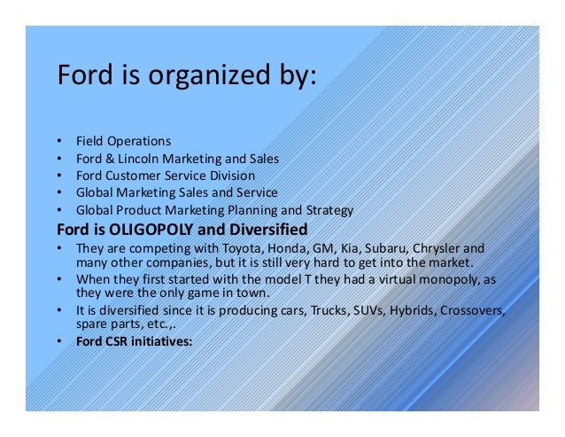 Ford motor company facts for Ford motor company marketing strategy