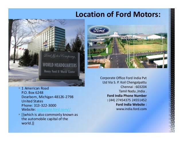 Ford motor company corporate headquarters for Ford motor company mission statement