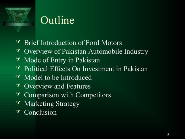 An introduction to the history of ford company