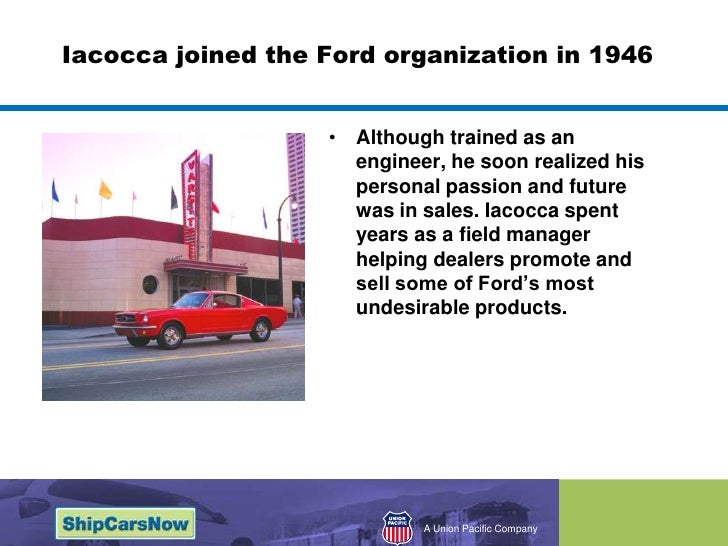 """an analysis of the mustang invented by a man named lee lacocca in 1964 Crisis in the auto industry and the near-bankruptcy of the chrysler corporation in 1979 were also projected onto the image of the motor city itself"""" 11 on iacocca's background and biography, see lee iacocca and william novak, iacocca: an autobiography (new york, 1984."""
