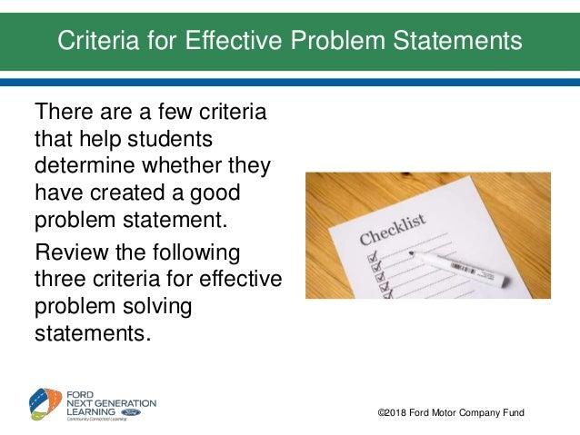 effective problem statement