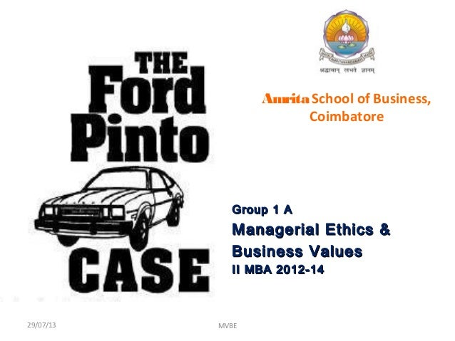 case analysis ford pinto The ford pinto was ford motor company's entrance into the subcompact car market in the 1970s with the rising popularity of imported japanese and german vehicles, which were often smaller and more fuel efficient, beginning to push into the dominance of american automakers' share of the market, ford designed the pinto as a viable alternative.