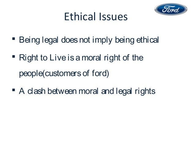 ethical issues in ford firestone case Case analysis #23case 22 analysis firestone and ford the tire tread separation tragedy 1 what are the major and minor ethical issues involved in this case.