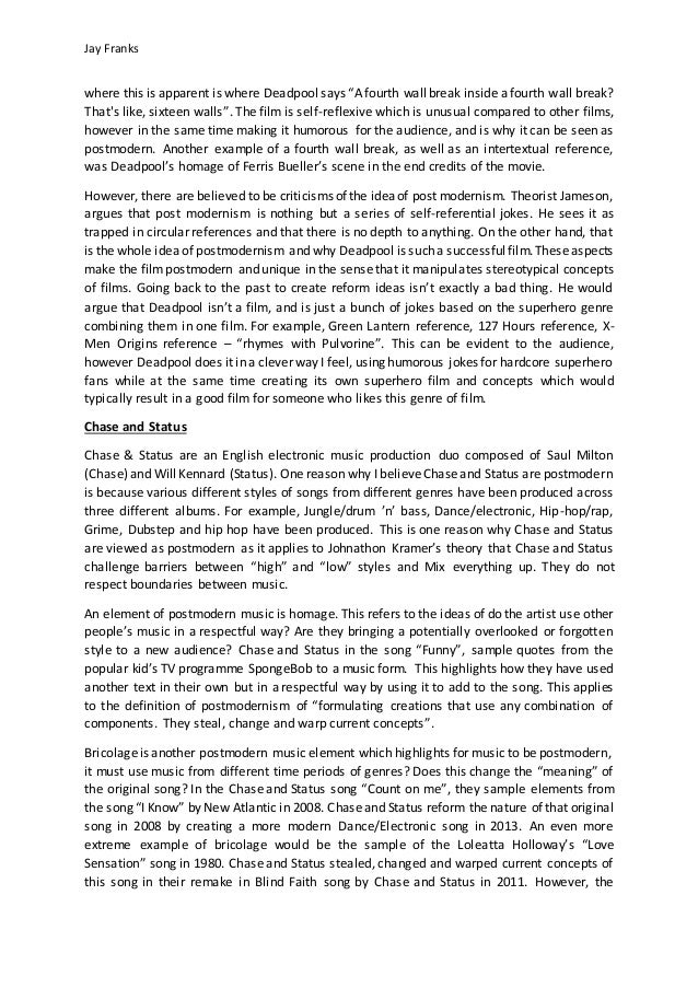 Opening Paragraphs For Essays A Memorable Moment From The Film  The Essay Expert also Witchcraft Essay Ford Postmodernism Essay The Rime Of The Ancient Mariner Essay