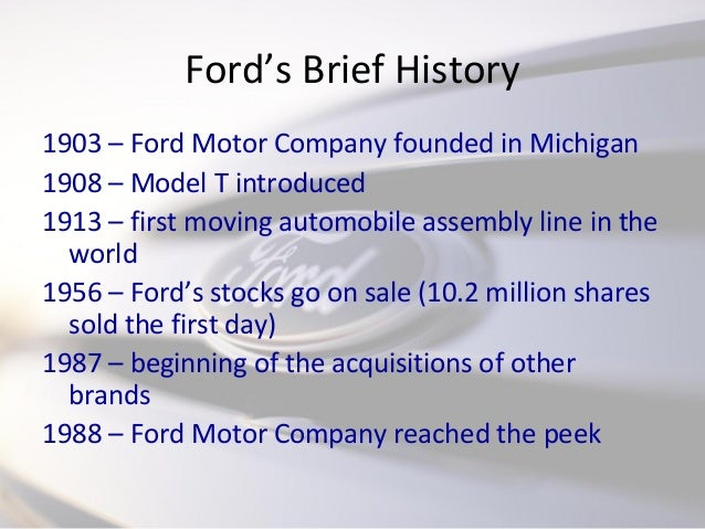 ford motor company strategy formulation View mark wilson's  consulting architect dealer and aftersales business at ford motor company  security and internal control and it strategy formulation.