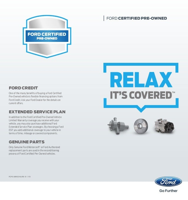FORD CREDIT One of the many benefits of buying a Ford Certified Pre-Owned vehicle ...  sc 1 st  SlideShare & Ford Certified Pre-Owned Program| Farmington Used Car Dealer markmcfarlin.com