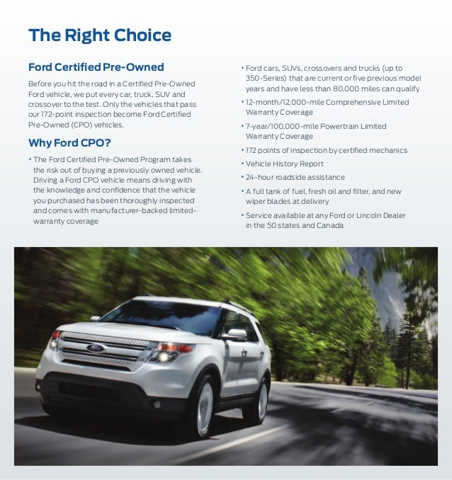 Ford Certified Used Car Warranty Details