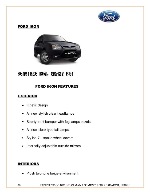 ford project final rh slideshare net ford ikon flair service manual ford ikon owners manual pdf