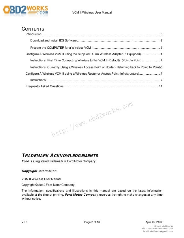 ford vcm ii professional scanner user manual rh slideshare net ford user manual pdf ford user manuals uk