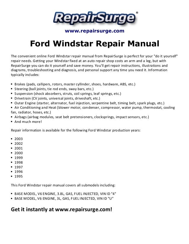 2000 ford windstar manual fuse box diagram free download wiring.