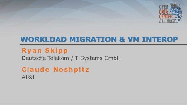 WORKLOAD MIGRATION & VM INTEROPRyan SkippDeutsche Telekom / T-Systems GmbHClaude NoshpitzAT&T