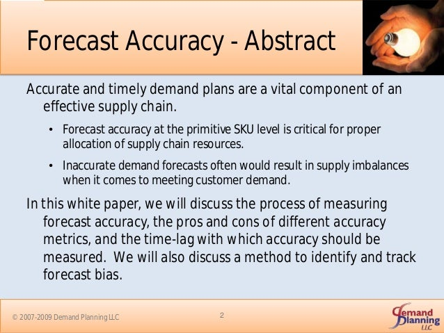 Forecast Accuracy and Safety Stock Strategies Slide 2