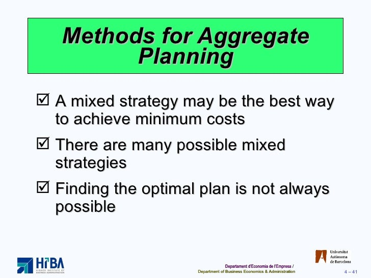 facilities and aggregate planning of mcdonalds Ch13 aggregate planning summary for chapter 10 ch 8 location planning and analysis adding new locations while retaining existing facilities.
