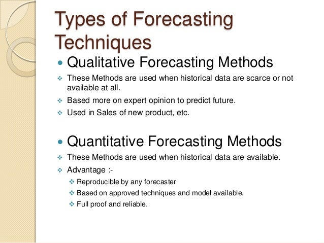 qualitative forecasting Methods contents types of judgmental forecasts 81 intentions 81  opinions 85 errors in judgment 85 bias anchoring 87 selecting judges 90.